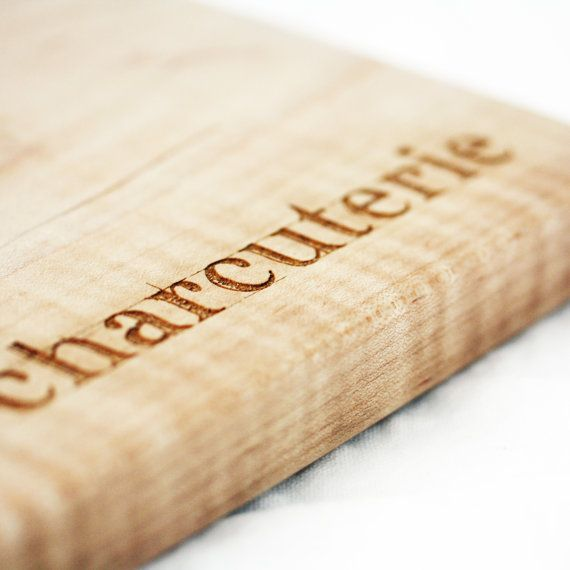 Charcuterie Board. Engraved wooden serving platter for unique hostess gift idea under 50