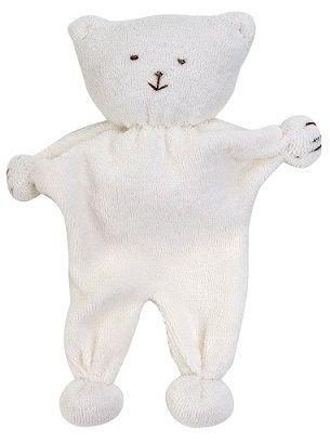 Kosedyr- Flat bjørn ifrotté.Offwhite. Bløt og god kosebjørn, laget i morsom fasong som er enkel å holde. Med knyttede armer og ben tilå tygge på ved tannfrembrudd. Designet for å bli kost med, tygd på og elsket!Anbefales å bruke mens barnet er våkent. *Lunbomullsfrotté* Fyll av økologisk bomull*Høyde 20cm* Håndlaget* CE/EN71-sertifisert* Matchendeprodukter somgir finegavesett* 100% GOTS-sertifisert økologisk, egyptiskbomull, Made in EgyptVaskeinstrukser...