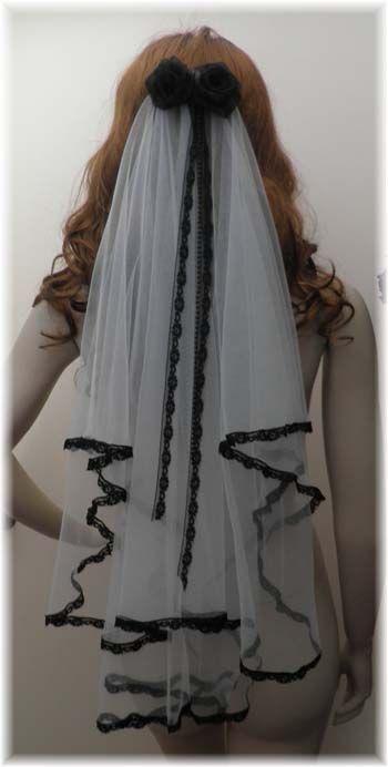 black+wedding+veils | Alternative Garden Wedding Dresses Beach Bridal Wear, Fairytale Veils ...