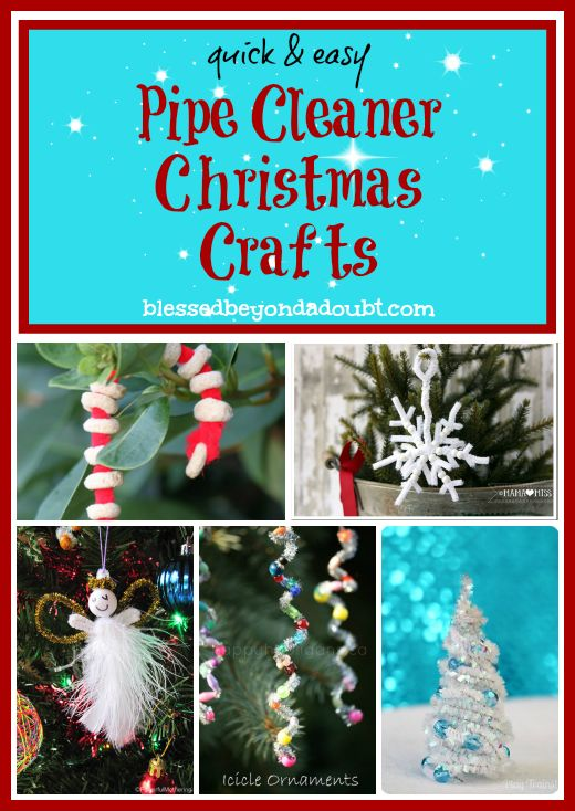 Pipe Cleaner Christmas Crafts that are FUN for the whole family!