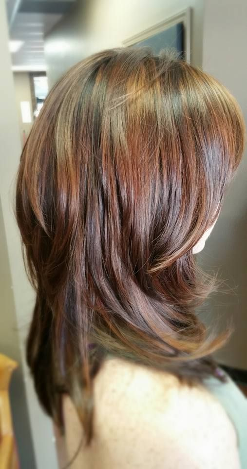 short layered haircut best 25 mahogany highlights ideas on mahogany 9806 | 15c41bf9806ff043c3013a5cdf8f54cc mahogany highlights studio color