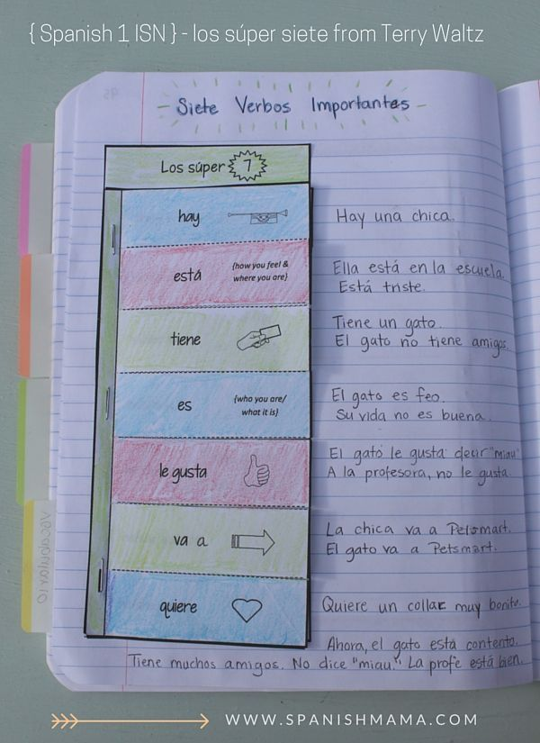 Spanish Notebook Section 4 Vocabulary 361 best