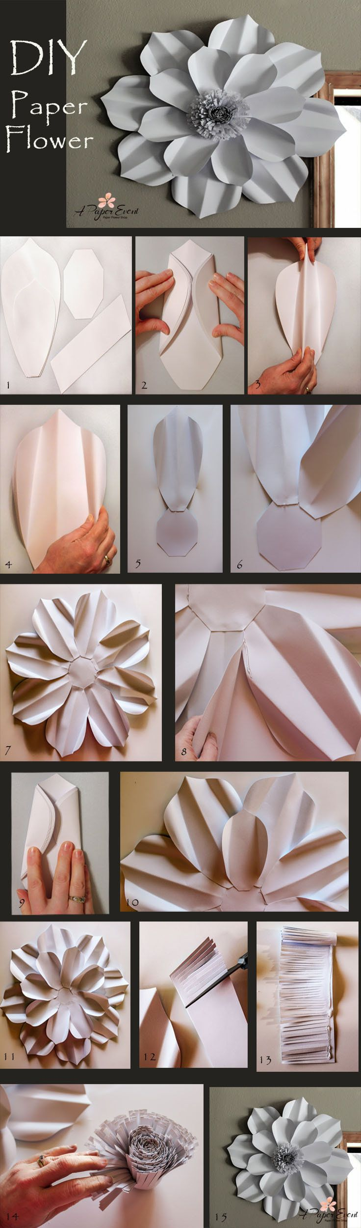 best Paper Flowers images on Pinterest  Giant paper flowers
