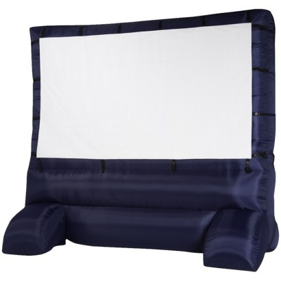 Target 12' widescreen inflatable screen for outdoor movies. This is awesome.