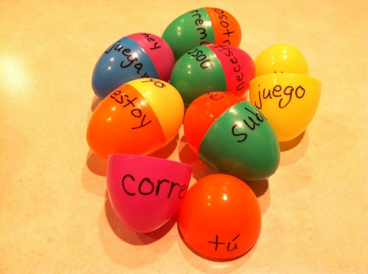 EASTER is coming, and now would be a great time to play the EGG RELAY to practice SPANISH VERBS. Fun in a class or at home with the whole family!  http://www.spanish-for-you.net/blog/spanish-egg-relay