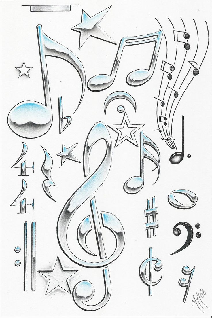 Best 25 music symbols ideas on pinterest music notes music designed this for half sleeve music symbols biocorpaavc