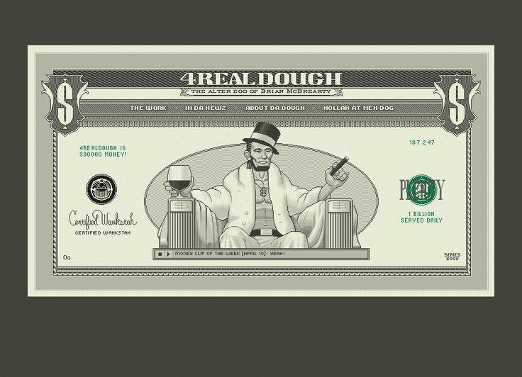 4RealDough website in 2003