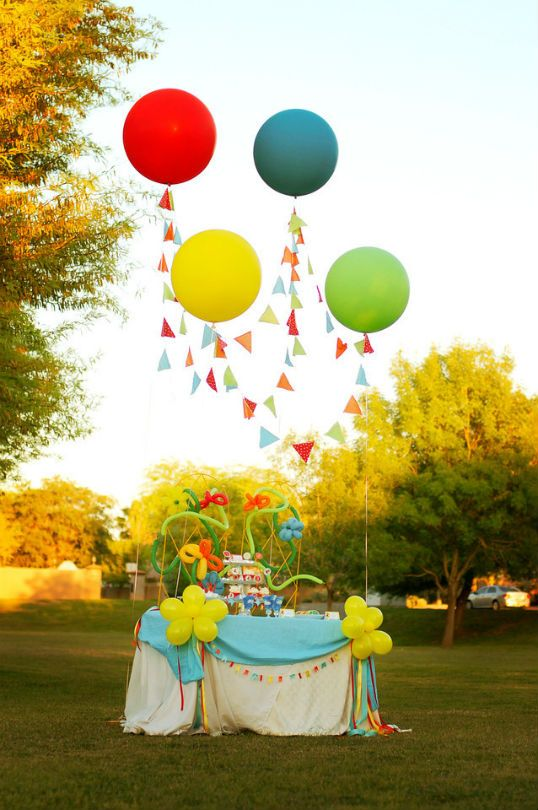 119 best images about balloons without helium on pinterest for Birthday balloon ideas