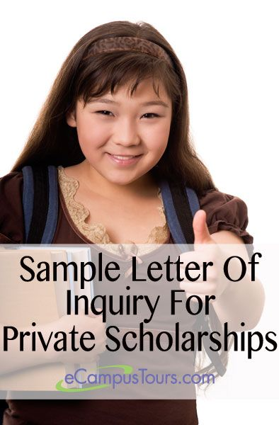 sample letter of inquiry for private scholarships