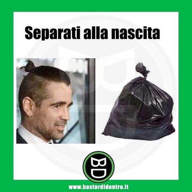 Separati alla nascita! #bastardidentro #ColinFarrell #sacchetto #ipnoticamentebastardidentro www.bastardidentro.it