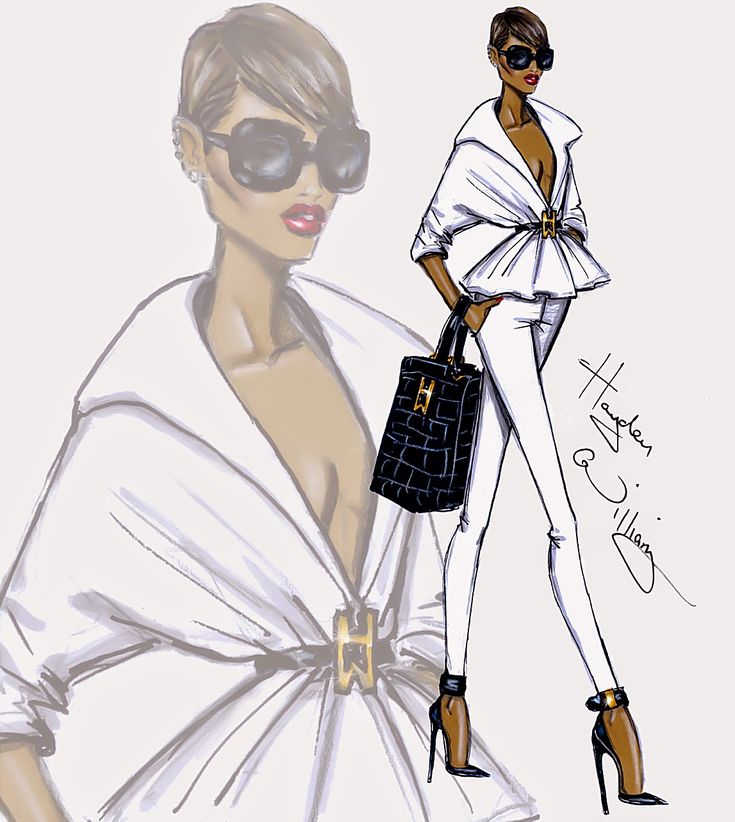#Hayden Williams Fashion Illustrations #'New Attitude' by Hayden Williams