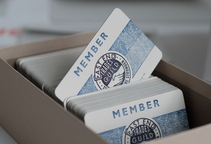Membership cards for East End Trades Guild London