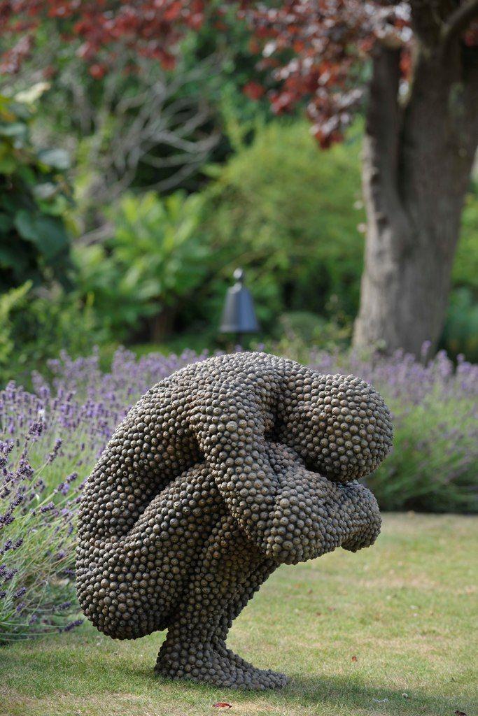 made from: fallen material acorns, beechnut casings, leaves, bark, sycamore keys - artist Anna Gillespie