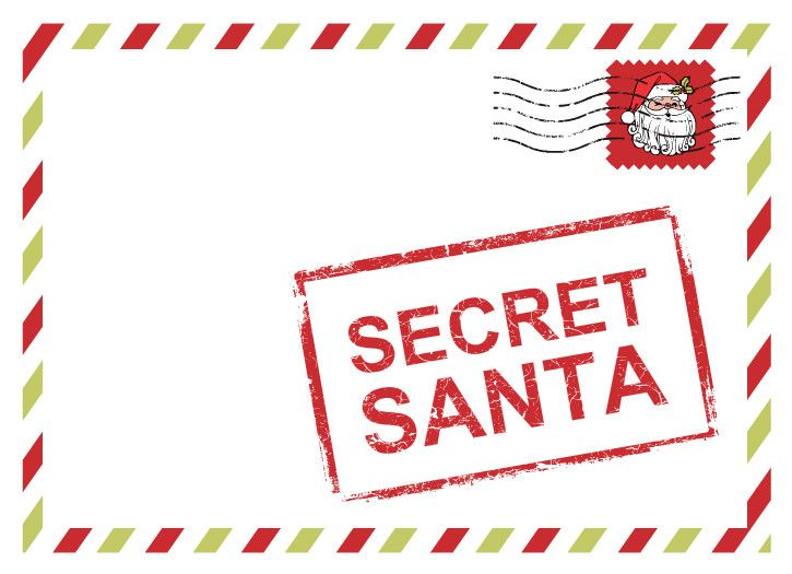 Secret Santa Corporate Holiday Party Invites by PurpleTrail.com.