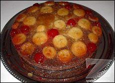 Gâteau renversé aux bananes à la Nadine