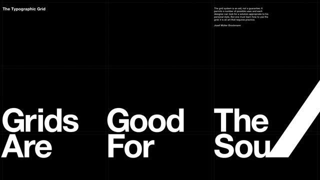 ヨゼフ・ミューラー=ブロックマン「Grids Are Good for the Soul」スイスを代表するグラフィックデザイナー。図形や文字で抽象化された、端的で奥行きのある世界をつくる。それともうひとつ、デザインの方法論を記した『グリッドシステム』がある。紙面をブロックに分け、文字や写真のブロックを組み合せてレイアウトする方法のこと。1960年代のスイスで、この方法を用いたレイアウトが現れた。