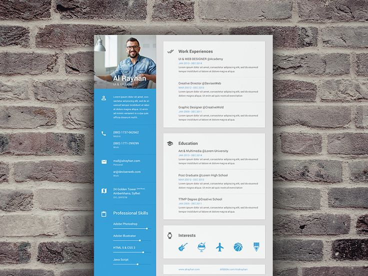 218 best Resumes images on Pinterest Cv design template, Modern - best sites to post resume