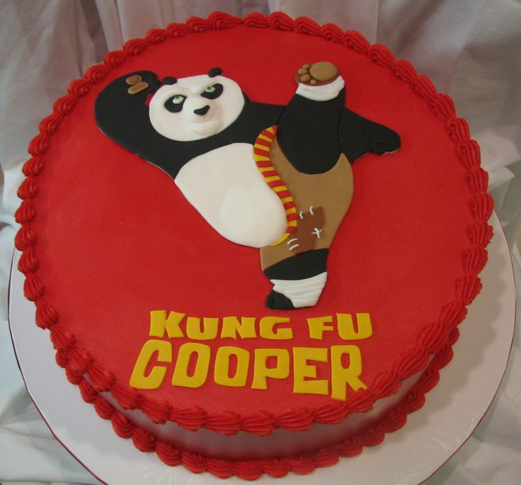 Kung Fu Panda - This is the cake I did for my nephew's Kung Fu Panda themed birthday party.  The cake is done in buttercream.  The panda Po is done in fondant.  My poor nephew...he always get the down graded procrastinated version of my original cake designs.