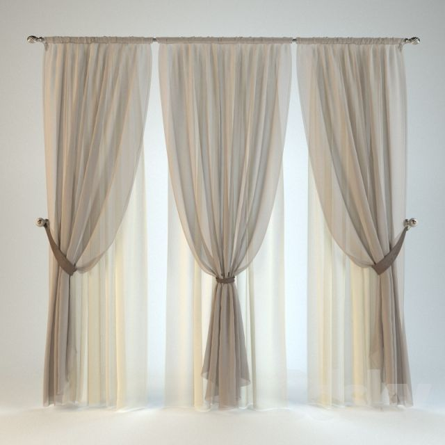 3d models: Curtain - Blind №11