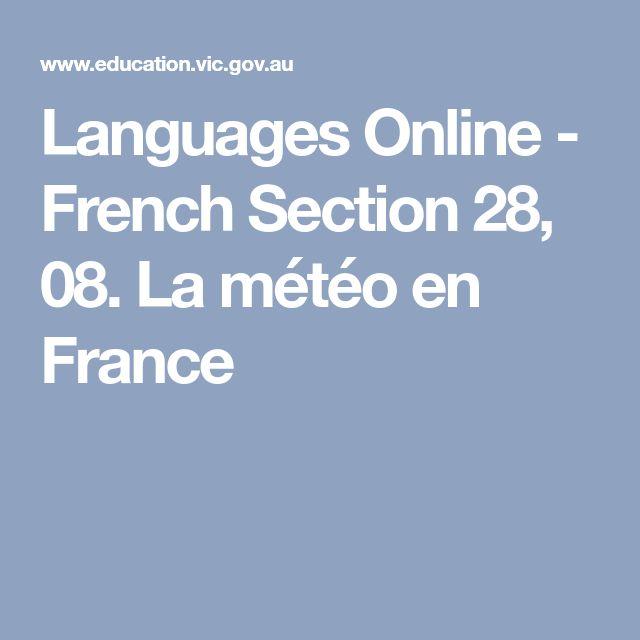 Languages Online - French Section 28, 08. La météo en France