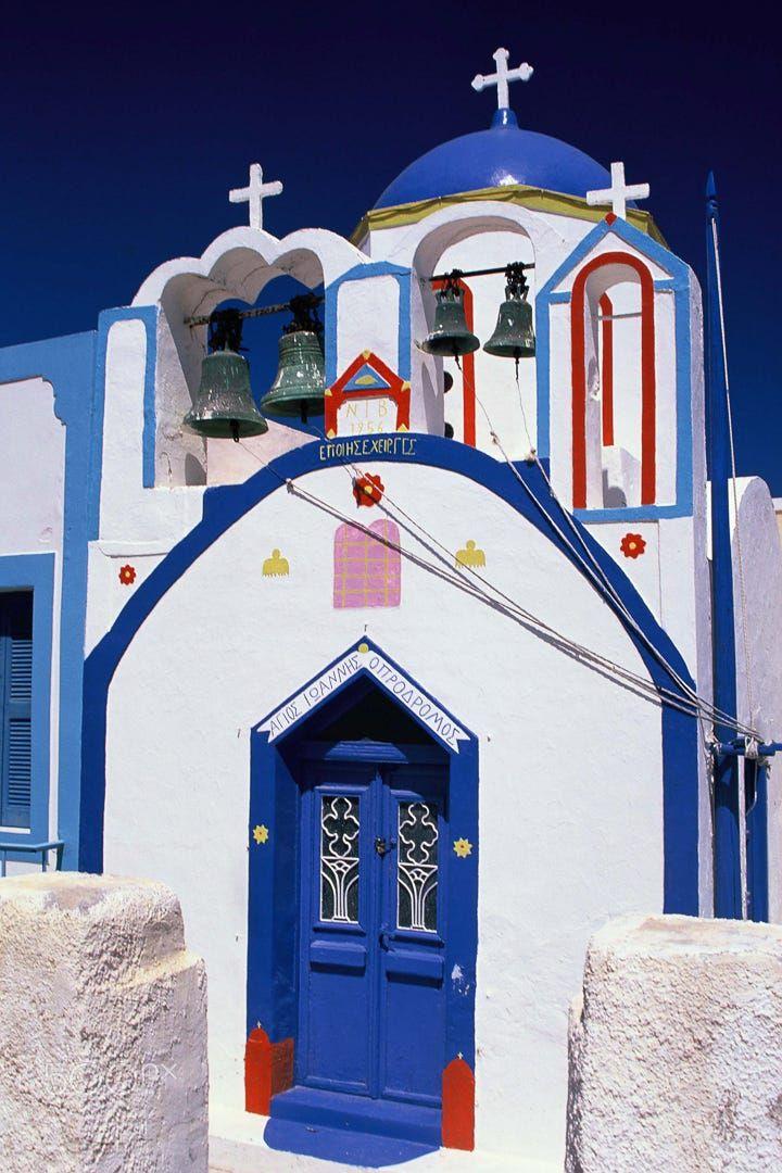 Chapel in Thirasia - Santorini, Greece