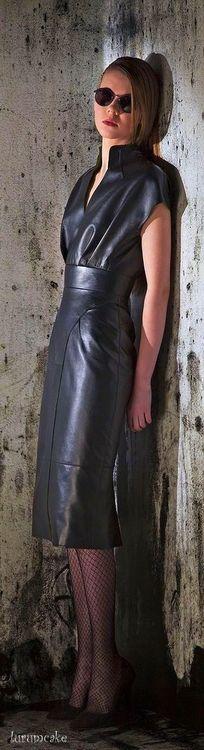 Leather dress   Basil Soda RTW FW 2014-2015