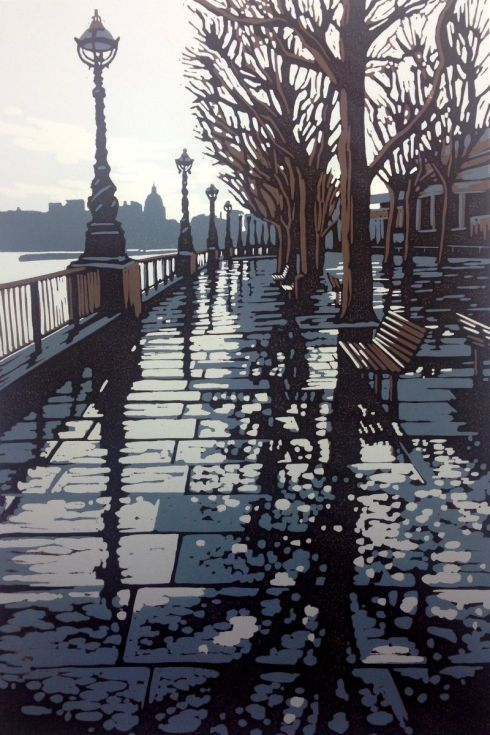 Buy Rainy Southbank, Linocut by Alexandra Buckle on Artfinder. Discover thousands of other original paintings, prints, sculptures and photography from independent artists.