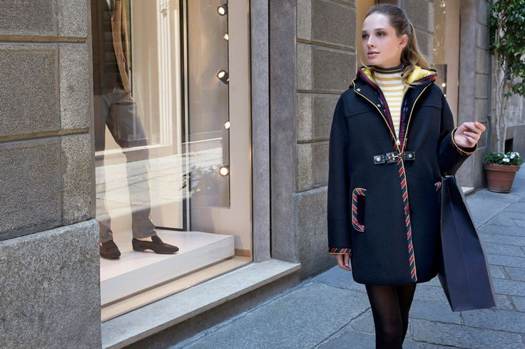 Fay City Diaries features the Women's Fall - Winter 2013/14 collection with the polished backdrop of Milan. Oversize Montgomery. http://www.fay.com/it/city-diaries/milano