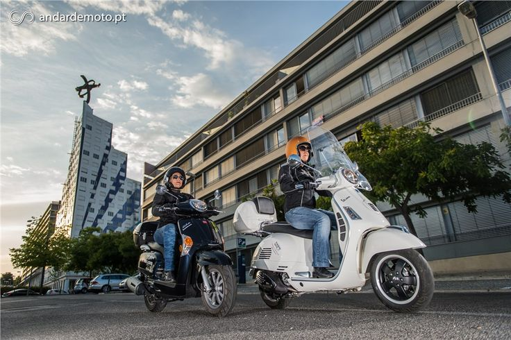 Kymco Like 125 versus Vespa GTS 125 Super - Conceitos Extremos - Test drives - Andar de Moto