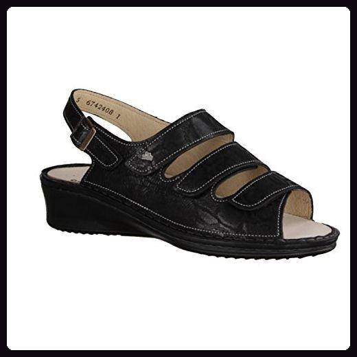 Finn Comfort Samoa - Damenschuhe Sandale bequem / lose Einlage, Schwarz, leder (wipeg) - Sandalen für frauen (*Partner-Link)