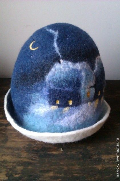 валяные шапки для бани: 8 тыс изображений найдено в Яндекс.Картинках. Felted ball with night scene.