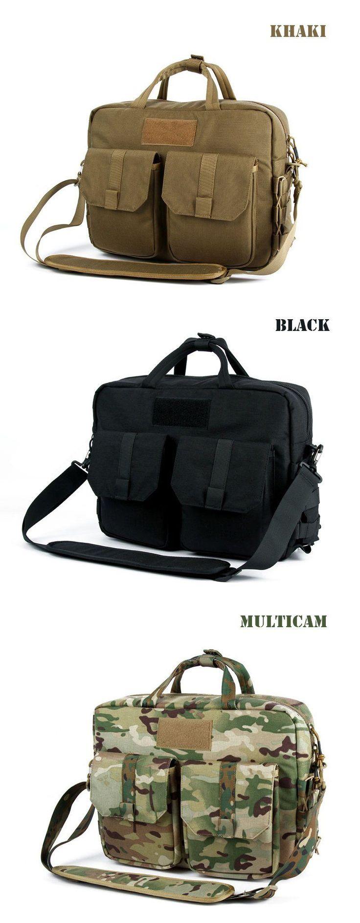 Tactical MOLLE Single Shoulder Military Attache Case Briefcase Laptop Bag