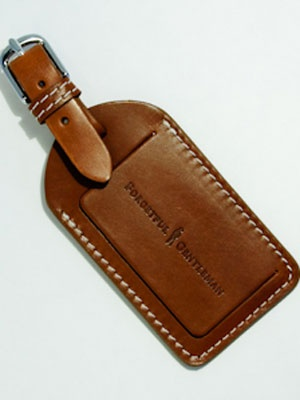 A Leather Luggage Tag