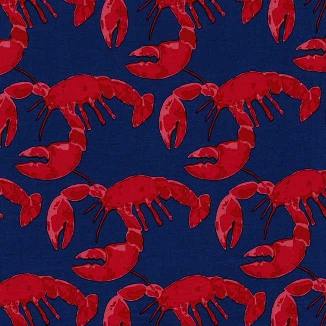 DC5604 Lobster Pot navy blue denim sea ocean fishing crabs shore thing emily herrick