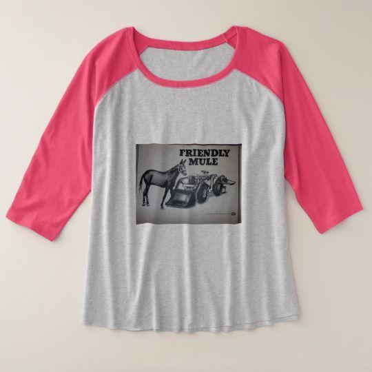 Women's Plus-Size 3/4 Sleeve Raglan T-Shirt