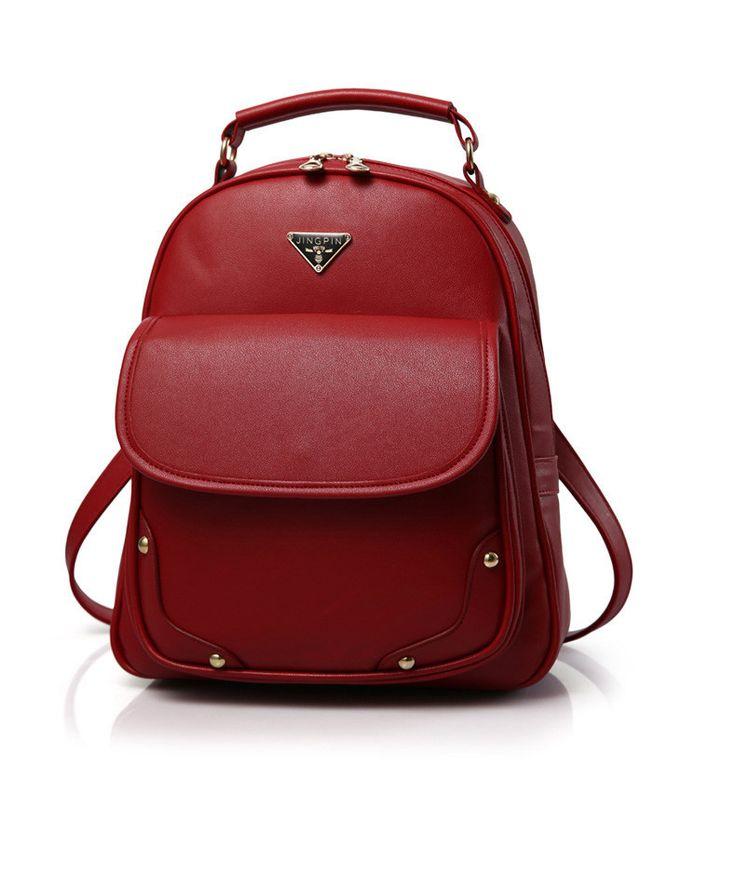 Fashion Designer PU Leather Famous Brand White Mini Medium-Capacity Ladies Backpack 7 Colors