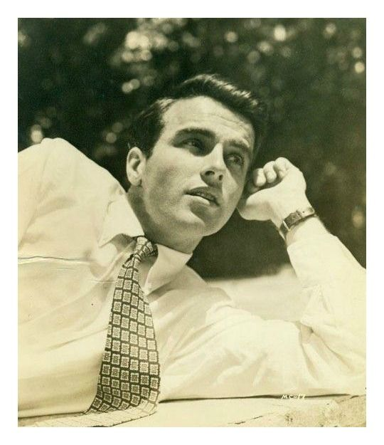Montgomery Clift, I think he was the most beautiful man ever in the movies, and one of the best actors.