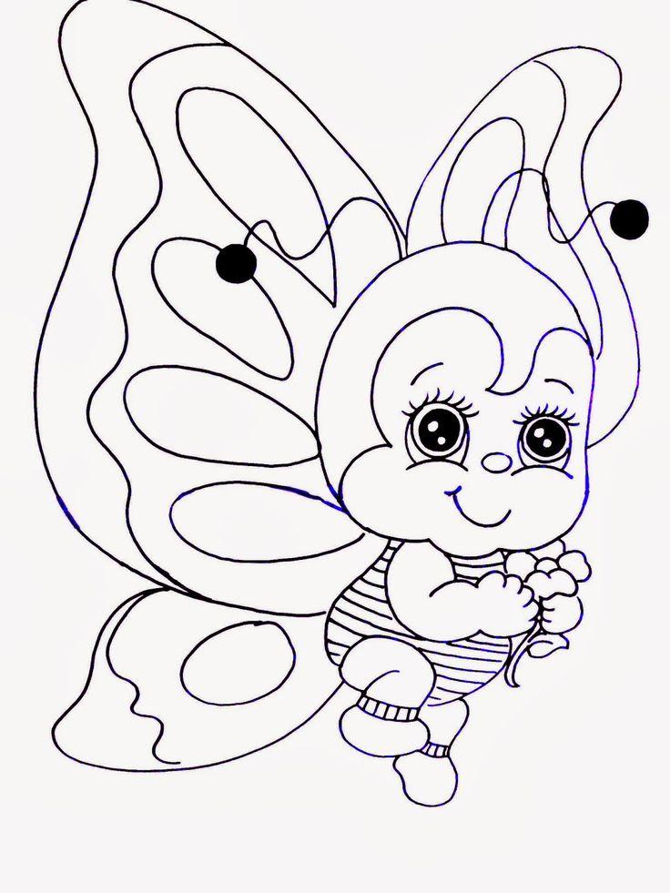 Olá pessoal, eu simplesmente adoroooo pintar esta borboletinha, peguei este desenho de um papel para decoupage, e já pintei ela muitas ...