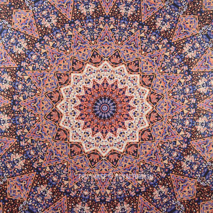 Large Psychedelic 3-D Star Mandala Wall Tapestry, Indian Bedding on RoyalFurnish.com, $19.41