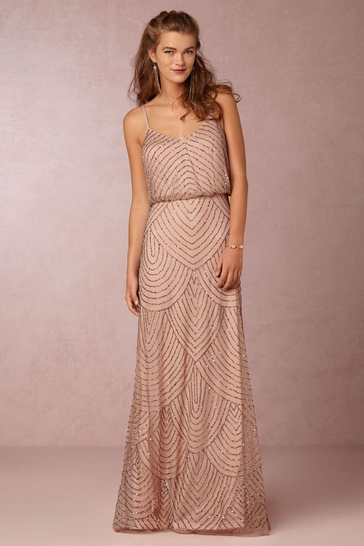 Obreanna Dress in Taupe Pink
