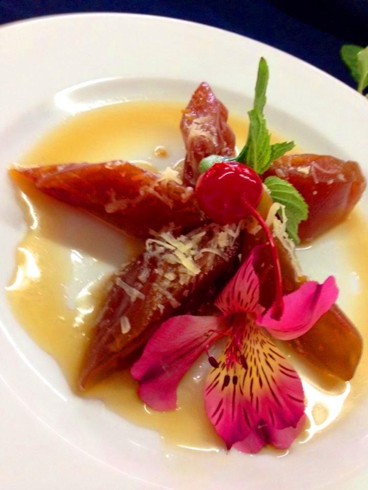 Dulce de Papaya con queso de Bola (postre tradicional yucateco)