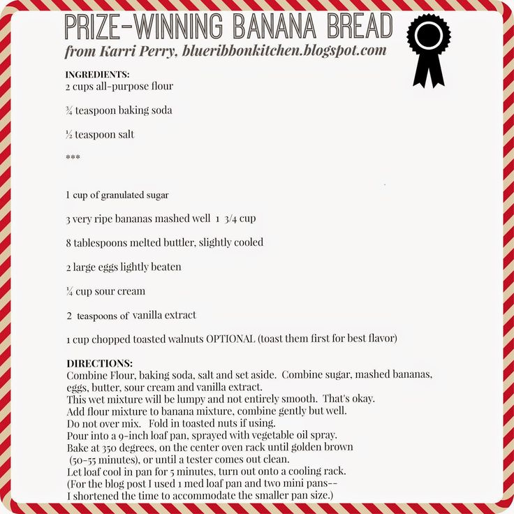 Blue Ribbon Kitchen: Prize-Winning Banana Bread