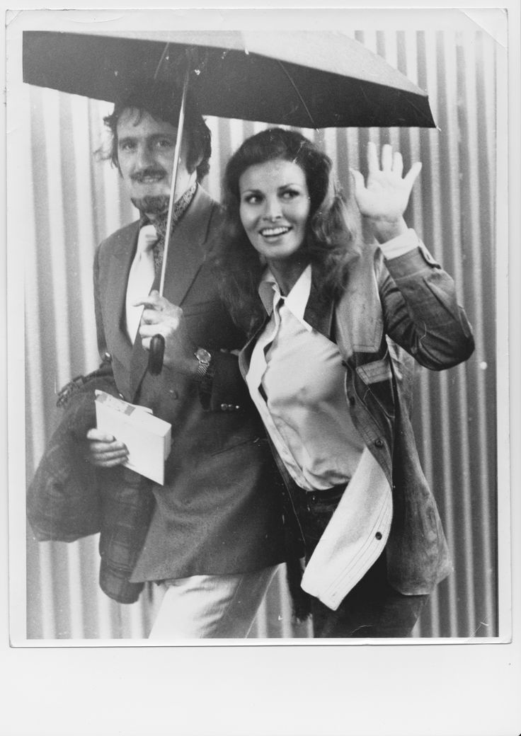 Jimmy Hill takes movie queen and 70s sex symbol Raquel Welch to Stamford Bridge to see Chelsea in action.