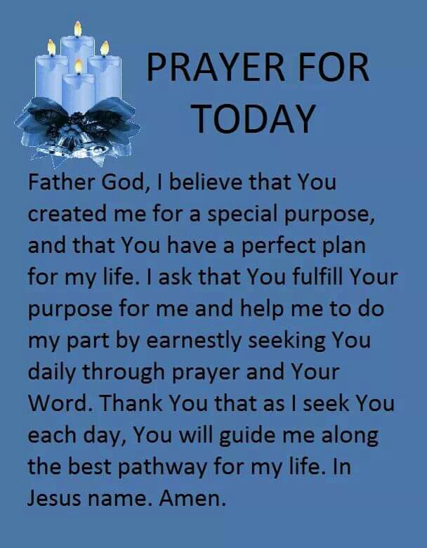 Prayer for today....