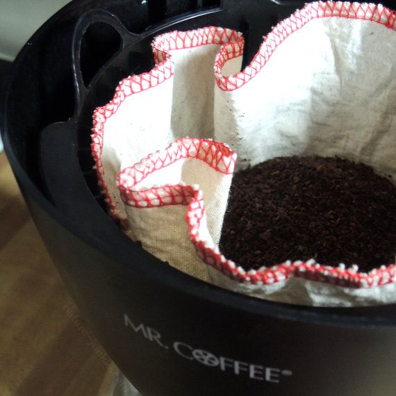 Reusable Coffee Filters, Washable Coffee Filters, Eco friendly, Coffee Brewer, Cotton Coffee Filter, Housewarming Gift, Gifts Under 5