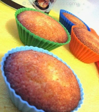 Muffins all'Arancia con Cuore di Cioccolato Fondente - Orange Muffins with Chocolate