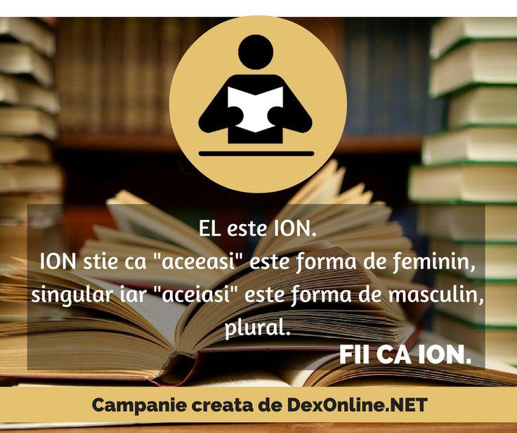 Salvam limba romana impreuna! #salveazalimbaromana  #dex #fiicaion http://dexonline.net
