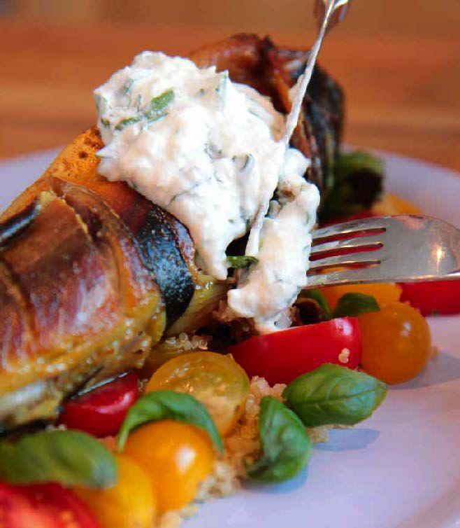 Makrell med salat, pepperotrømme