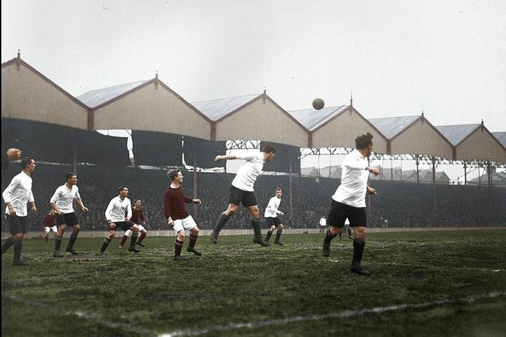 1914 Highbury Woolwich Arsenal   Courtesy of George Chilvers, encapsulating black & white in colour