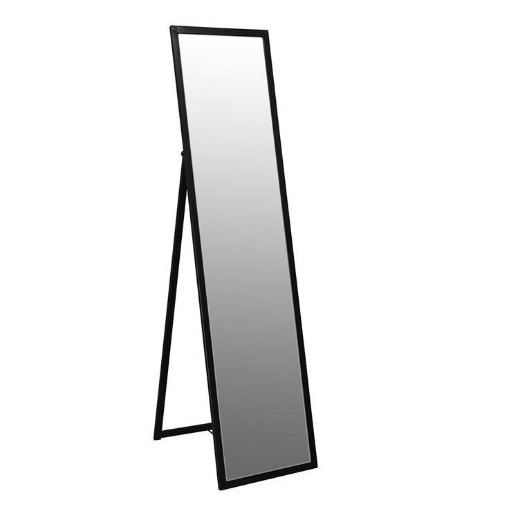 Metal Framed Free Standing Full Length Mirror 1370mm - Black: Amazon.co.uk: Kitchen & Home